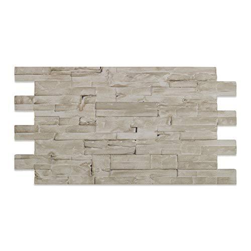 Decoresin Pannello Finta Pietra Ricostruita in Polistirolo Resinato Cortex 110 cm X 56 cm Decorativo e Termoisolante