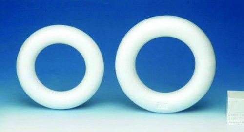 Glorex poliestireno poliestireno extruido Mitad Anillo 2,45x 16,5x 16,5cm, Color Blanco