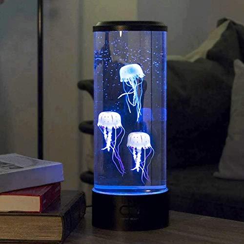 Jeirifermtv Quallen-Lampe, Farbwechsel, USB-Anschluss, LED, Fantasie, bunt, rund, für Zuhause, Wohnzimmer, Schlafzimmer, Büro, Reha, Institute, Tagespflege