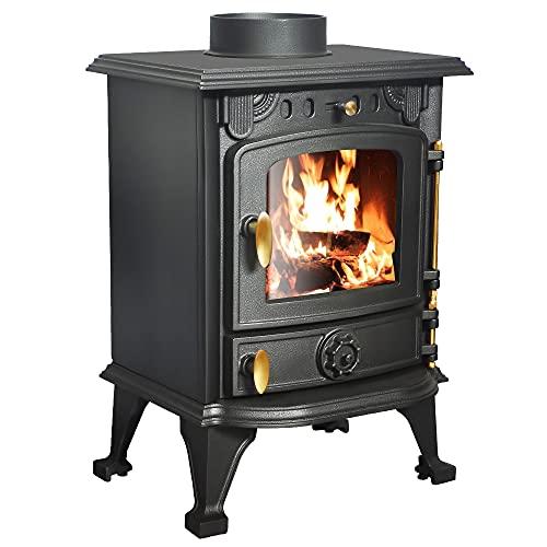Lincsfire 4.2KW Eco Design Stove Wood-Burning Stoves Wood Burner...