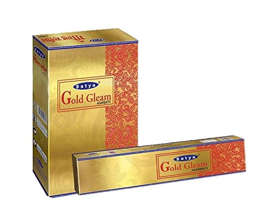 放つ始めるパラメータSatyaゴールドGleam Incense Sticksボックス240?gmsボックス