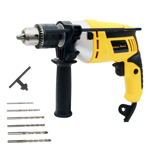 Golden Bullet HI93 600W 13mm Reversible Impact Drill with 6 FREE drill bits and Variable Speed