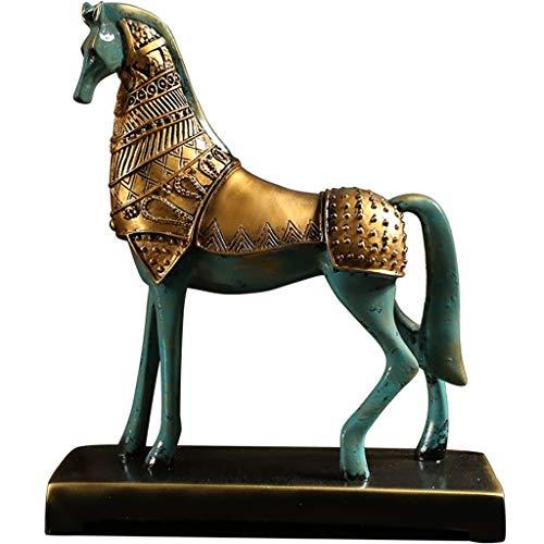 Decoratieve paardensculptuur accessoires voor thuis, creatief, Amerikaans, modern, minimalistisch, Chinees, woonkamer, wijn, decoratie, kunst, zachte decoratie
