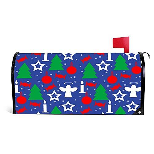 wendana Inpakpapier Naadloos Patroon Voor Kerstmis Postbus Cover Magnetische Vinyl Thuis Tuin Decor Postbus Wrap Post Letter Box Cover 18