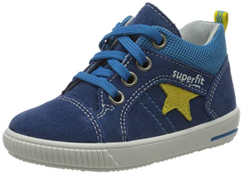 Superfit Baby Jungen MOPPY Sneaker, Blau (Blau/Gelb 80), 25 EU