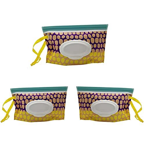 Bolsa para Toallitas Húmedas 3 Piezas de Bolsas de Toallitas HúMedas PortáTiles Reutilizable resistente al agua para picnics uso personal diario cambio de pañales viajes toallitas húmedas
