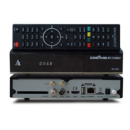 ZGEMMA H9 Combo mit DVB-S2X+2*DVB-T2/C Enigma2 Linux 4K UHD Digital Kabel empfänger