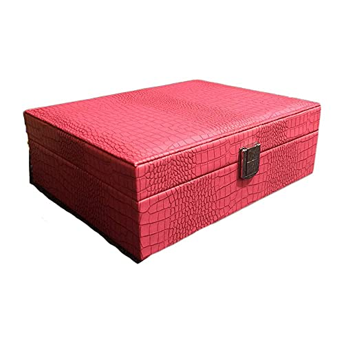 WOZUIMEI Caja de Joyería de Cuero de Pu con Patrón de Lagarto, Caja de Joyería de Princesa, Caja de Regalo de 4 Colores para Joyería, Caja de Regalo para Mujer