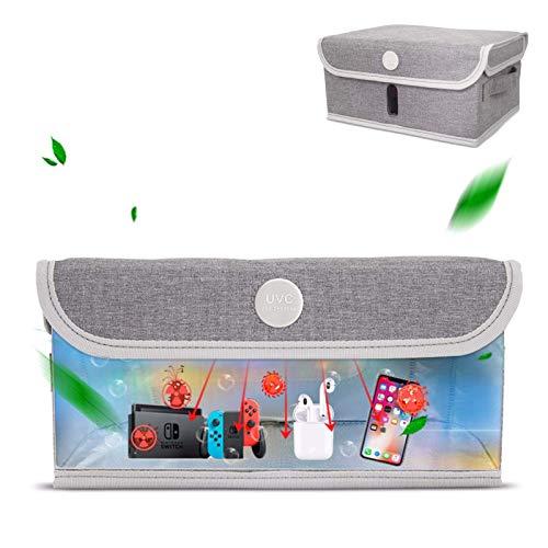 Pkfinrd Bolsa plegable de esterilizador UV, caja de esterilización UVC con 12 cuentas de lámpara LED para esterilización telefónica Peluquería equipo de la cámara Artículo