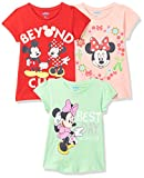 Mickey & Friends By Kidsville Girl's Plain Regular fit T-Shirt (Pack of 3) (MFKG01_Multicolor 11-12 Years)