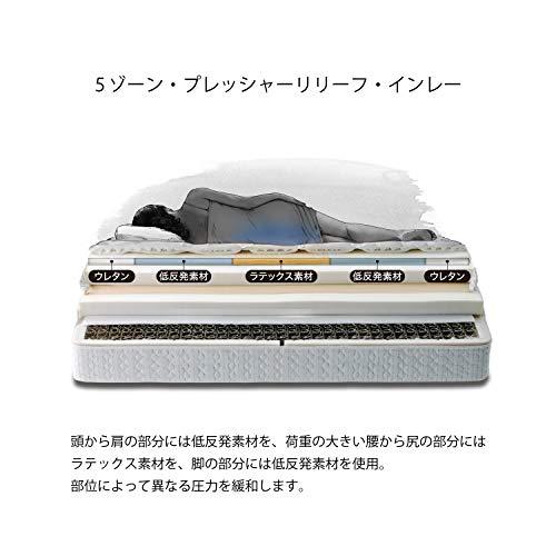 【正規品】Sealy(シーリー)マットレスクラウンジュエルガーナイト3シングル日本製2年保証抗菌防臭ホワイト