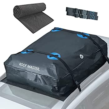 ROOFMASTER Rooftop Cargo Carrier for All Cars & Automobiles with or Without Roof Rack Unique Waterproof Design - 16 Cu ft Roof Bag Includes Roof Top Mat