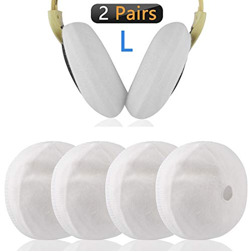 Geekria Sweater Cover for HD 515, 598, 380, 380 pro, HD 4.50BT, 4.40BT, PXC 550 Headphones/Stretchable Knit Fabric Protectors/Fits 3.15-5.51 inches Headset Earcups (White)