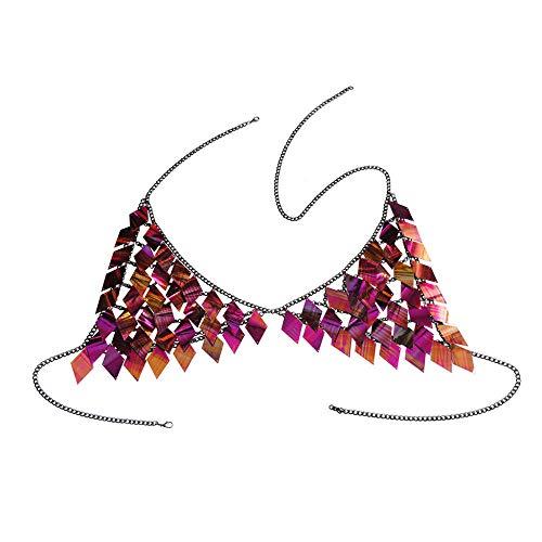 Bikini Body Chain, Borstkettingen voor dames, hanger met strass-steentjes, perfect vakantie cadeau voor dames goud