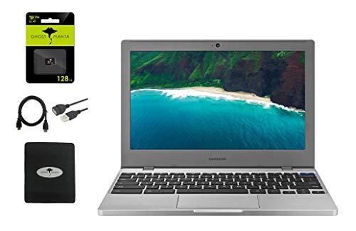 "Samsung Chromebook 4 11.6"" Slim Light Thin Laptop for Business and Student, Intel Celeron N4000, 4GB RAM, 32GB eMMC Gigabit, Wi-Fi, Chrome OS (32GB+ 128GB SD Card  GM Bundle)"