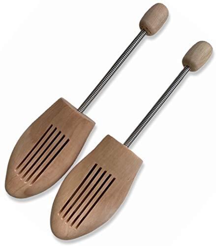 Delfa Horma para zapatos de madera auténtica con muelle en espiral de metal., color Beige, talla 38W   39L