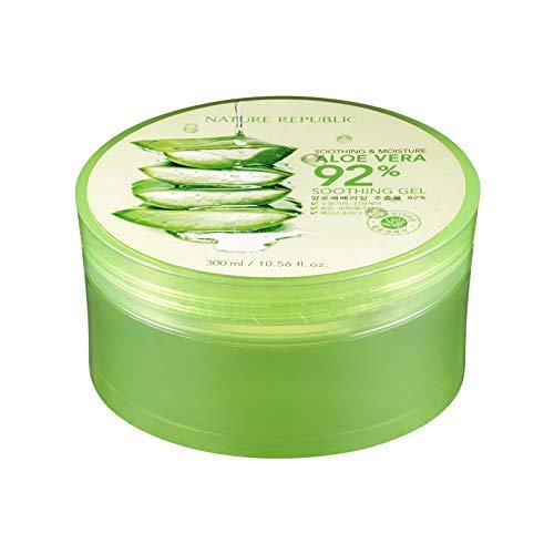 Nature Republic New Soothing Moisture Aloe Vera Gel 92 Percent 300 Milliliter Korean Cosmetics