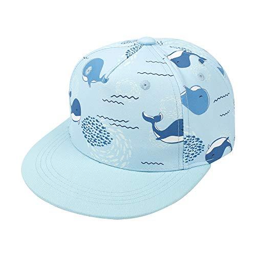 Idgreatim Baby Sonnenhut Sonnenschutz Cap Kinder Sommerhut Netter Wal Cap für 2-4 Jahre Alt Jungen und Mädchen Baseball Kappe Jungs
