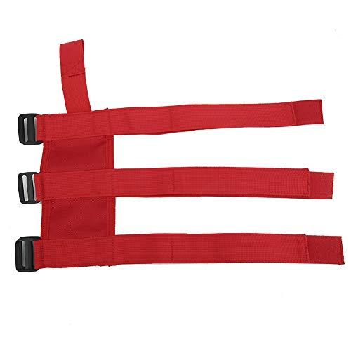 XINMYD Feuerlöscher-Gurt, automatisch Einstellbarer Auto-Feuerlöscher-Befestigungshalter Gürtelriemen Passend für Wrangler TJ YJ JK CJ(rot)