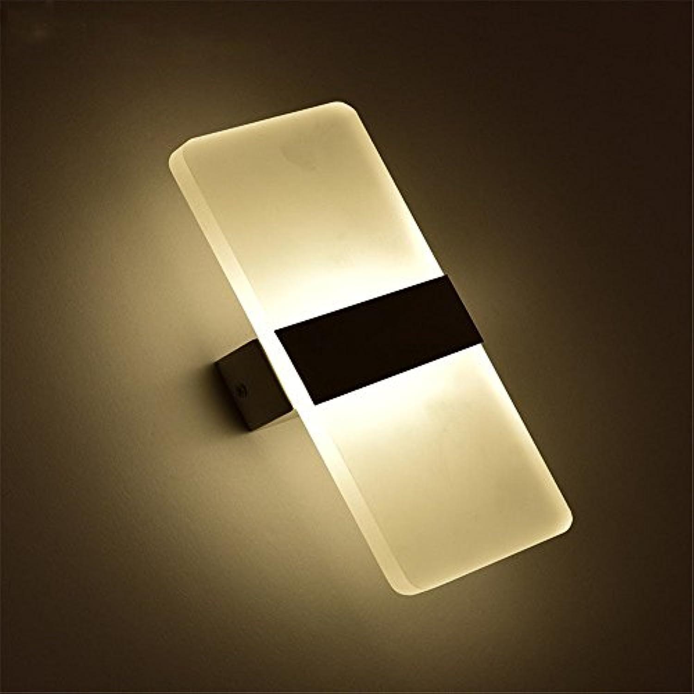 StiefelU LED Wandleuchte nach oben und unten Wandleuchten Wand lampe Nachttischlampe Schlafzimmer Wohnzimmer Flur LED-Wand montiert, Rechteckig