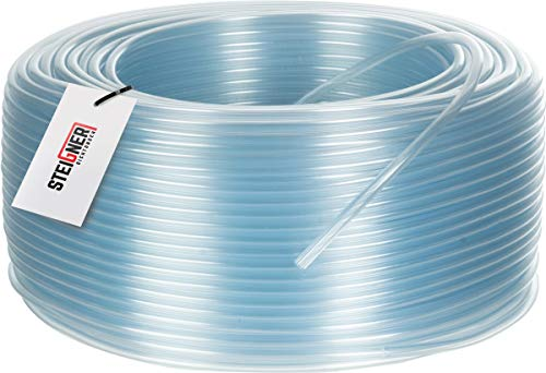 STEIGNER Benzinschlauch Wasserschlauch PVC Schlauch Transparent, Durchmesser: 9-12 mm, Länge: 10 m, SBS-14-10