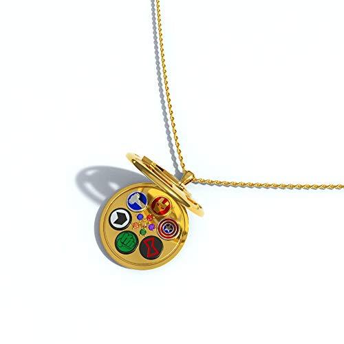 Chiefstore Film Taschenuhr Halskette Superheld Ohrring Ohr Trägt Endgame Cosplay Kostüm Zubehör für Erwachsene Fancy Dress Schmuck Kollection Box Set