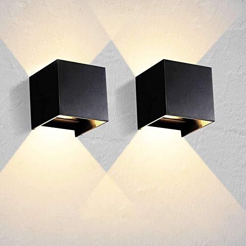 Lightess 2 Piezas Apliques de Pared LED 12W Lámpara de Pare