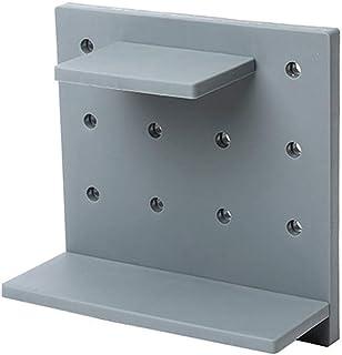 Estante de la pared del agujero de la pared PP placa montada en rack de almacenamiento plataforma de baño Aseo Cocina Sanitarios de ducha de esquina Holder Champú de almacenamiento, 22 * 22cm (Color
