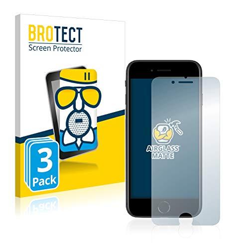 BROTECT Protector Pantalla Cristal Mate Compatible con Apple iPhone SE 2 2020 Protector Pantalla Anti-Reflejos Vidrio, AirGlass (3 Unidades)