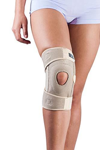 LOREY Hochwertige Neopren-Kniebandage mit integriertem Silikonring und Patellaaussparung