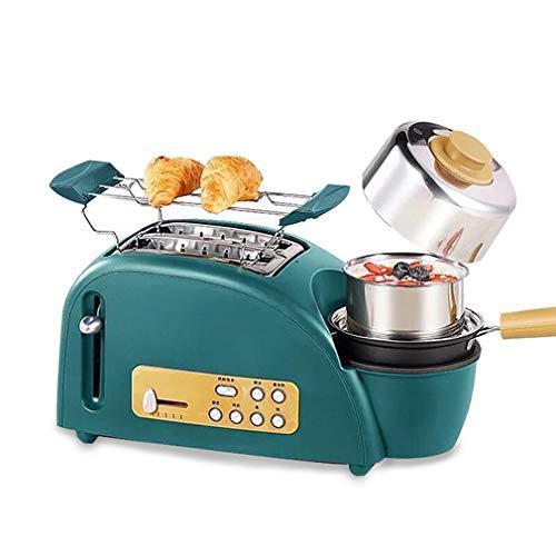 JIERTYU Tostadora, Breakfast Maker 3 En 1 One Touch Quick Toaster Tiene 5 PTC Horneado Libremente Ajustable La Máquina De Pan De Calentamiento Uniforme Puede Descongelarse Y Recalentarse