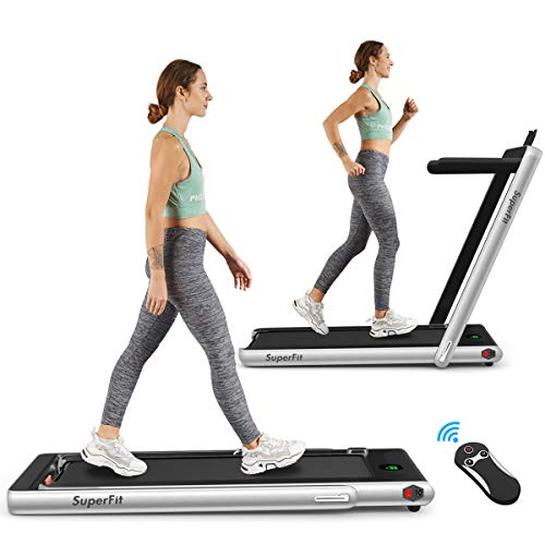 Goplus 2 in 1 Folding Treadmill, 2.25HP Under Desk...