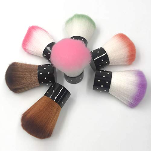 LYYCEU 4 PCS Courte poignée Souple tête Tampon de Teint en Poudre Pinceau Blush Outils de Maquillage y