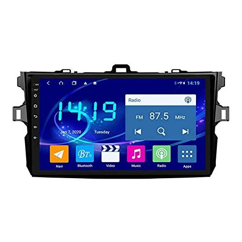 yanzz Reproductor Multimedia para automóvil Sistema de navegación GPS para Toyota Corolla 2007-2013 Unidad Principal Pantalla táctil Auto Radio Estéreo Sat Nav con Mirrorlink Bluetooth + WiFi USB