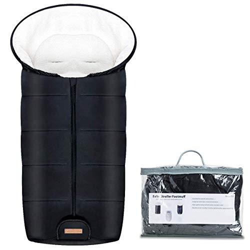Minetom Universeller Fußsack für Kinderwagen Winterfußsack Wasserdicht Fußsack Anti-Rutschschutz Design mit warmes und weiches Fleece, Aufbewahrungstasche| Fußsack für Sportwagen & Buggy