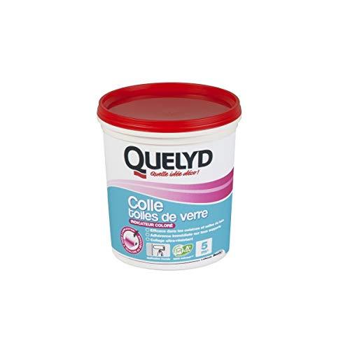 Quelyd Colle toiles de Verre avec Indicateur coloré Pâte - Pot de 1kg