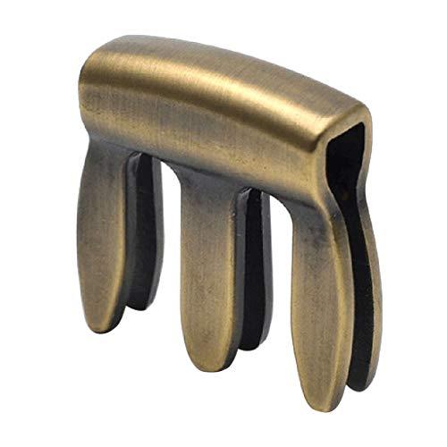 Silenciador de Violín 3/4 4/4 de Metal cobre Resistente y Duradero Sordina de Violinista Accesorio de Instrumento de Cuerda - Bronce, como se describe