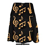 gold trim kit trumpet - NiYoung Professional Barber Cape for Men Women, Water and Stain Resistant Saxophone Trumpets Music Gold Black Hair Cutting Cape Extra Large Haircut Apron Hair Cutting Cloak, Skin-Friendly