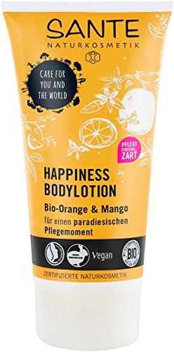 SANTE Naturkosmetik Happiness Bodylotion, Tropischer Duft, Intensive Feuchtigkeit, Zieht schnell ein, Vegan, 1 x 150ml