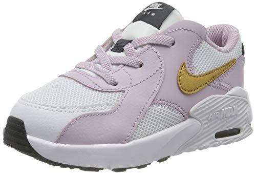 Nike Unisex-Baby Air Max Excee (TD) Sneaker, White/Metallic Gold-Ice Lilac-Off Noir, 27 EU