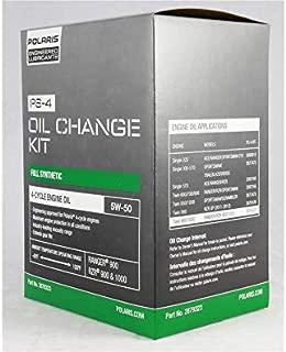 Polaris 5W-50 2.5 qt. Full Synthetic PS-4 Oil Change Kit, Genuine OEM Part 2879323
