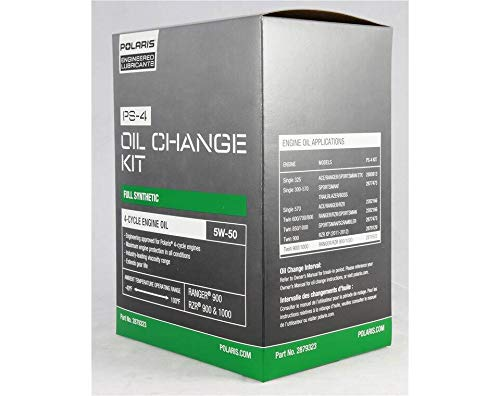 Polaris Full Synthetic Oil Change Kit, 2.5 Qts. of PS-4 Engine Oil and 1 Oil Filter