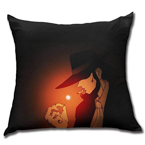 age Lupin The Third Cotton Fleece Comfortable Anime Square Hug Pillowcase Fundas para Almohada