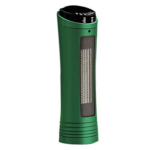 SHPEHP Cerámico Personal Calentador de Espacio,2000w Pequeño Calentamiento rápido Calefactor Eléctrico con Teledirigido para Hogar Uso Oscilación Protección contra Sobrecalentamiento Te-Verde Un