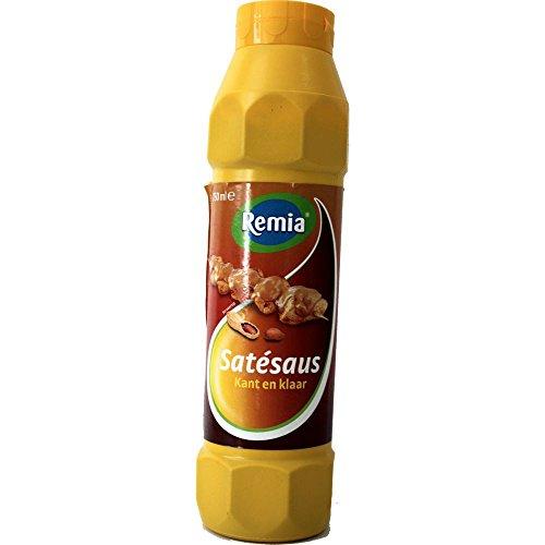 Remia Gewürz-Sauce Sate Sauce (750ml Flasche, gelb) (Erdnuss Sauce) NL