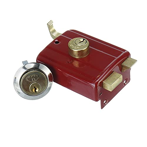 HXiaoF Indoor Strong Professional Door Lock Heavy Duty Anti Theft Home Security Accessory Bedroom Red Easy Install Universal Deadbolt