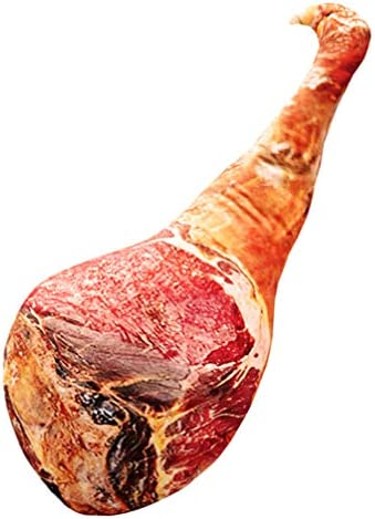 BESPORTBLE Soft Food Plush Pillow Ham Chicken Leg Shaped Pillow Novelty Simulation Food Plush product image