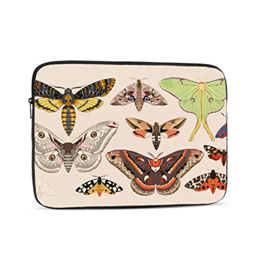 Cover For Laptop Beautiful and Bright Cartoon Moth Mac Book Air Cover Multi-Color & Size Choices 10/12/13/15/17 Inch Computer Tablet Briefcase Carrying Bag