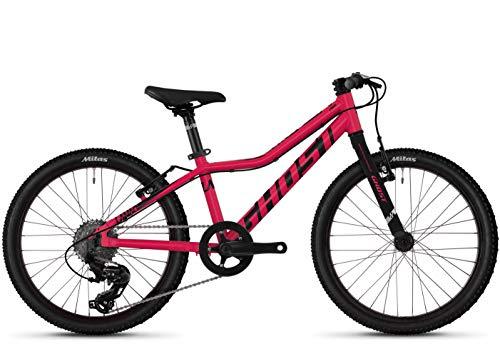 Ghost Lanao R1.0 AL W 20R Mädchen Mountain Bike 2019 (20 Zoll, Rubi Pink/Jet Black)