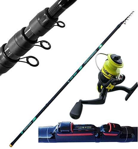 Generico Canna Teleregolabile Regolabile Carbonio Metri 7 Pesca Trota Fiume + Mulinello